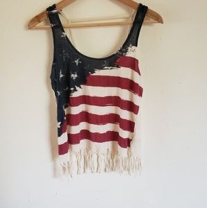 American flag tank by others follow